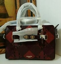 NWT COACH BLAKE CARRYALL 25 IN METALLIC PATCHWORK F55666 METALLIC CHERRY $595