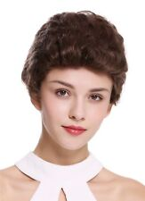 Wig Ladies Men's Human Hair Short Wavy Trendy Great Braun Medium Brown B-HH12
