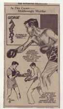 1941 newspaper panel - Middleweight Boxer Georgie Abrams