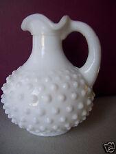 """Avon Milk white glass vase hob nail design No chips or cracks 4.5"""" Tall"""