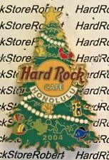 2004 HARD ROCK CAFE HONOLULU CHRISTMAS TREE WITH FISH/CRAB/TURTLE/SHELLS LE PIN