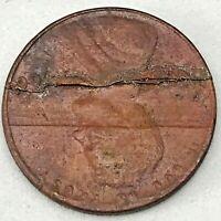1966 LINCOLN CENT PENNY HUGE  RIM TO RIM LAMINATION MINT ERROR COIN #2. RARE!