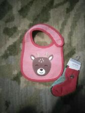 New carters bib and two pack of socks christmas