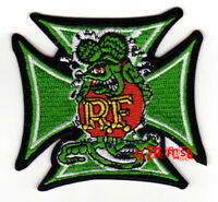 RAT FINK EMBROIDERED PATCH big daddy ed roth greaser biker rockabilly hot rodder