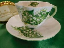 SHELLEY  DAINTY   LILY  OF  THE  VALLEY     CUP AND SAUCER  # 13822