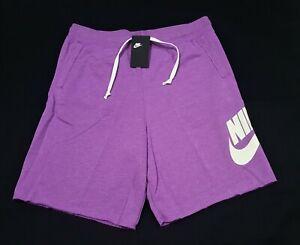 Nike Mens Sportswear Alumni  French Terry Shorts Purple Nebula AR2375-570
