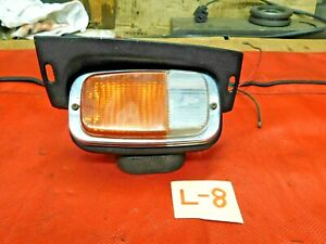 Triumph TR6, Lucas Lt Front Parking Light & Turn Signal Assembly, Orange & White