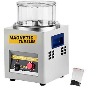 180mm Magnetic Tumbler KT185 Jewelry Polisher Finisher Super Finishing Machine