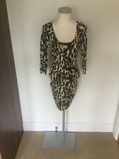 Guess Animal Print Knit Dress With Lace Back Size Small