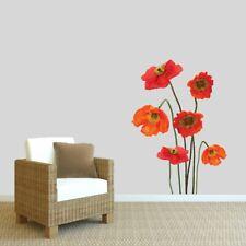 Wall Vinyl Decal Skull Poppies Dangerous Flowers Sticker Art Interior Decor m670