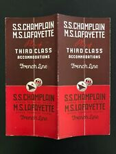 Ss Champlain & Ms Lafayette - French Line | Third Class Deck Plan