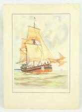 Gordon Grant The Howker Ship 1935 Original Vintage Lithograph Art Print