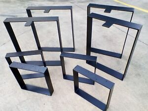 Pair of Square Steel Hoop Table Legs 10yr Weld Warranty AUST MADE - Not Chinese.