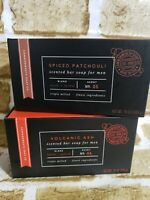 Lot of 2 Spiced Patchouli/ Volcanic Ash Triple Milled Bar Soap 10 oz