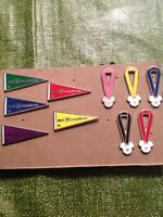 Lot Of 10 Hidden Mickey Flag And Ribbon Trading Pins