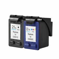 2 X Tinta NONOEM GEN PARA compatible HP 21 HP 22 J3608 J3680 F4180 4315 HQ