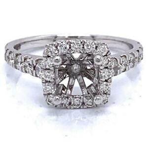 Engagement Ring Semi-Mount Setting (For 1.5 Ct Round) / 0.72 Ct Diamond 14K GOLD