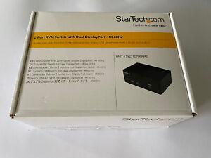 StarTech.com (SV231DPDDUA2) 2-Ports External KVM 4K/ audio switch USB