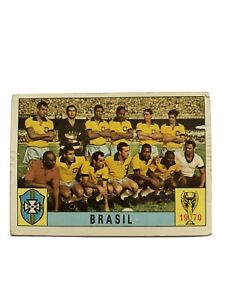 Original Panini Mexico 70 1970 Brasil Brazil Team Unused. One Of The Rare 80