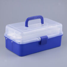 Plastic Storage Tools Box Container with Two Trays Fits for Jewelry/Medicine