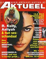 AALIYAH R KELLY Dutch Aktueel Magazine 9/25/02 NETHERLANDS SEX SCANDAL RARE