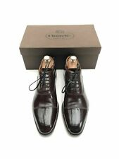 CHURCH'S OXFORD MEN'S SHOES - UK 8 F - BROWN CALF LEATHER - COPPICE