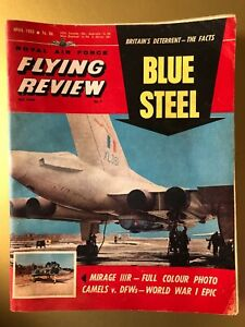 Royal Air Force Flying Review Magazine April 1963 Cover Blue Steel Skybolt 16d