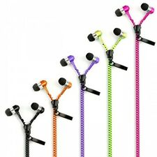 Zipper In Ear Stereo Handsfree Earphones Wired Headphones Microphone 3.5mm Jack