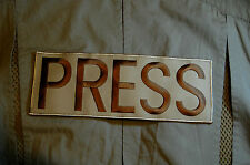 """Conflict War Theater TV NEWS MEDIA PRESS 11"""" Reporter Patch for Ballistic Vest"""