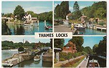 Berkshire; Thames Locks Multiview PPC Unposted, Sonning, Boulters, Marsh Etc