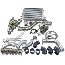 GT35 Turbo Intercooler kit For 84-91 BMW 3-Series E30 325 M20 Engine Black Hose