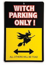 Witch Parking Only - No Parking Broom Lane Halloween Sign Decor
