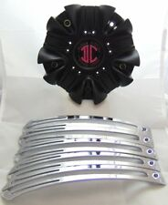 "II(2) Crave Alloys Wheel Center Cap W/Inserts C524602CAP Black 7 3/8"" New"