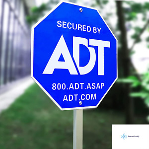 """SWEETFULL 28"""" ADT Sign,ADT Security Signs with 6 Double-Sided Stickers Metal Yar"""