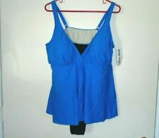 511a6a7b77 Gabar Aqua Navy Yellow Floral 1pc Slimming Swimdress Swimsuit Womens Size 8