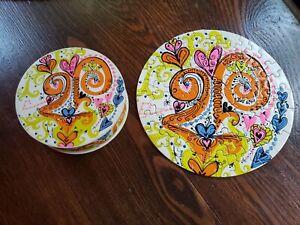 "SPRINGBOK Puzzle LOVE Thingie PEACOCK 1968 7"" Round Sandy Miller Complete"