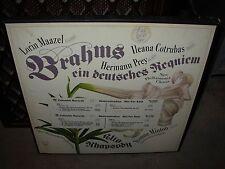MAAZEL / BRAHMS alto rhapsody ( classical ) 2 lp box columbia WHITE LABEL PROMO