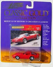 JOHNNY LIGHTNING R3 CLASSIC GOLD COLLECTION 1979 CORVETTE Rubber Tires