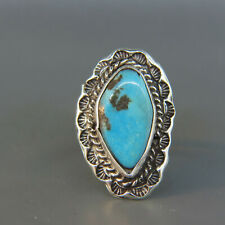 Vintage Navajo Sterling & Turquoise Man's Ring