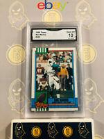 1990 Topps Dan Marino #323 - 10 GEM MINT GMA Graded Dolphins Football Card