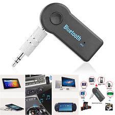 Bluetooth v4.0 Receiver Audio AUX Hand Free Car Stereo 3.5mm Line Jack A2DP UK