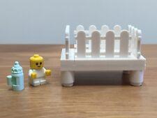 Mini Figura Lego de bebé con cuna Personalizado/Cuna & Botella De Leche-totalmente Nuevo