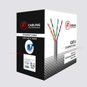 50m 100m 305m Cat6 Ethernet Data cable solid copper for POE IP Camera NBN A-tick