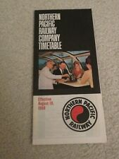 Northern Pacific Railway Company Timetable  August 18, 1968 =