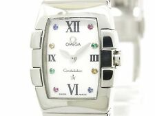 Polished OMEGA Constellation Quadrella MOP Dial Ladies Watch 1584.79 (BF113847)