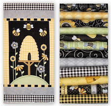 "Henry Glass & Co Sew Bee It Cotton Fabric Set ~ 12 Fat Quarters & 24""X44"" PANEL"