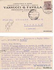 # PIETRASANTA: testatina- VANNUCCI &FAVILLA - laboratorio di marmi   1926