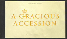 UK 2002 Prestige Stamp Booklet A Gracious Accession royalty Fine condition