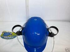 Party Drink Hat Helmet-Twin Drink Beer Holders Holds 2 Cans`Blue-Free To US