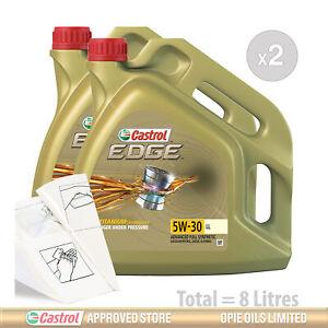 Engine Oil Service Kit: 8 litres of Castrol EDGE 5w30